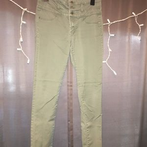 Denim - Green Highwaisted Jeans